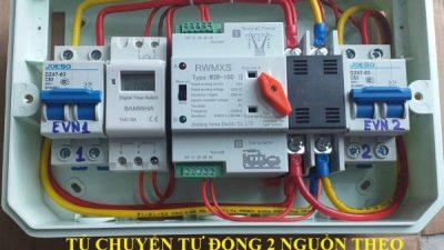 Tủ Điện Chuyển Đổi Nguồn Cho 2 Đồng Hồ Điện Chay Theo Tháng